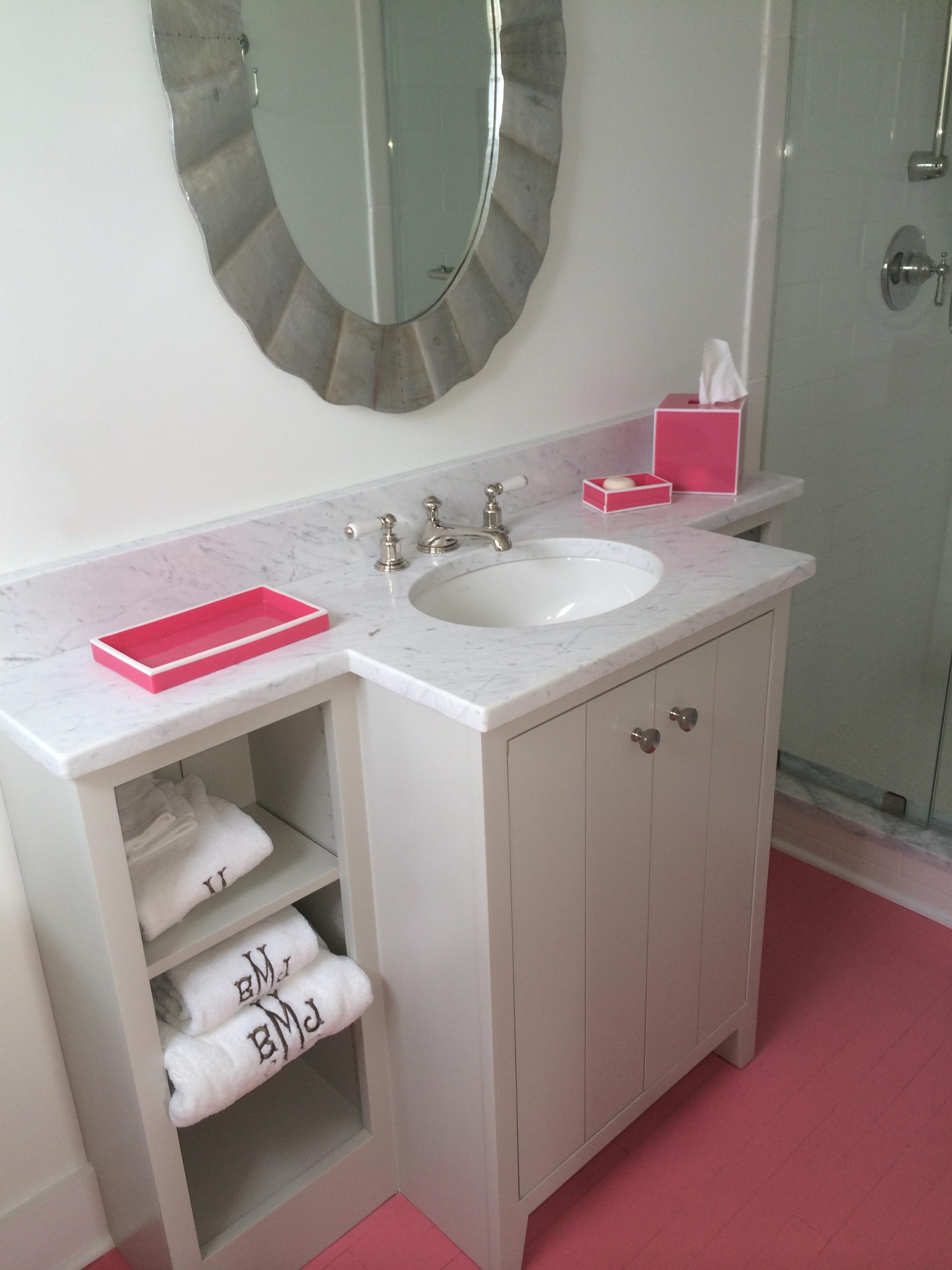 custom vanity guest bath